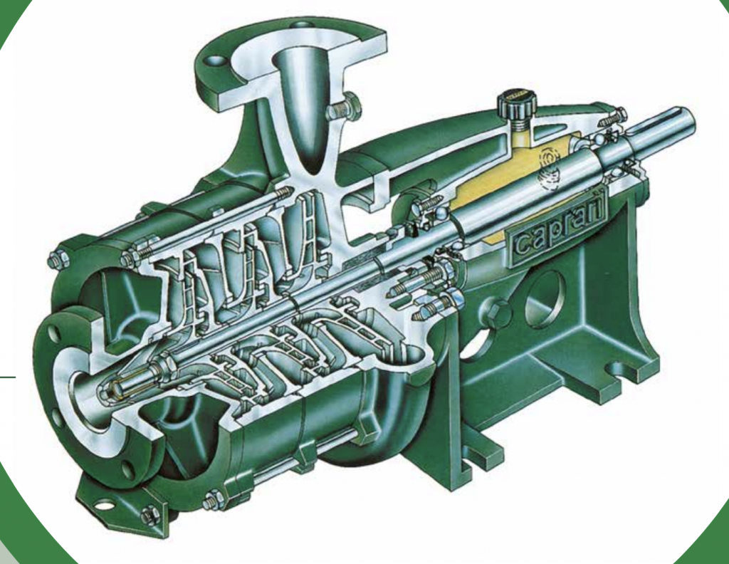 MEC-MR Horizontal centrifugal multistage pumps structure