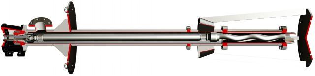 Cấu tạo của bơm trục vít bản dài DV