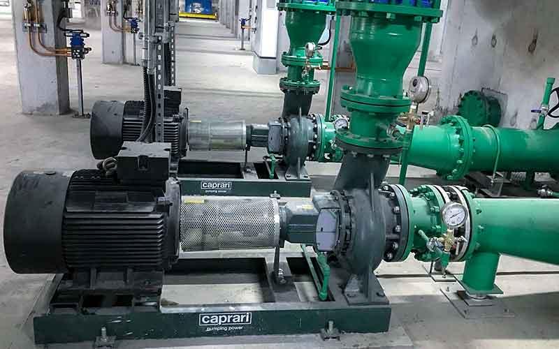 Bơm ly tâm Caprari NC Bơm hệ thống Cooler nhà máy thép Tungho