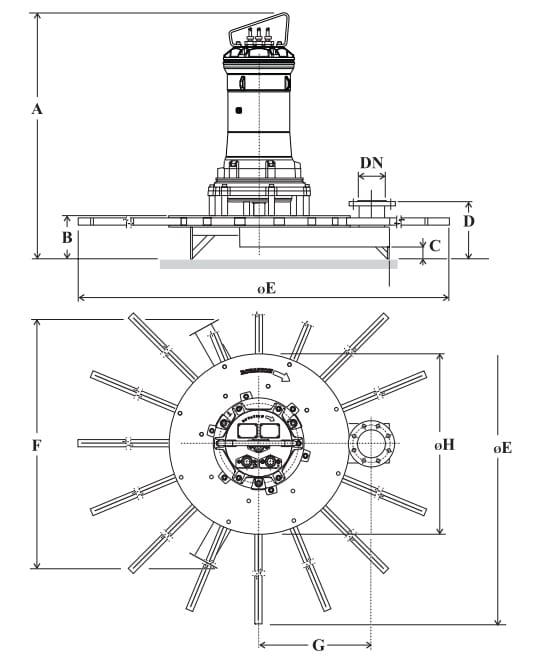 Cấu tạo máy sục khí chìm ARS/S